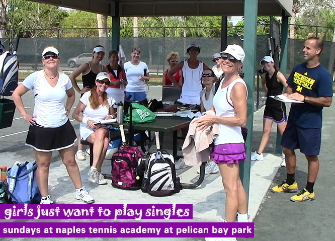 sunday singles – 12 girls – at pelican bay community park